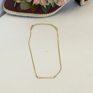 Vintage Choker Necklace with Crystal Bar